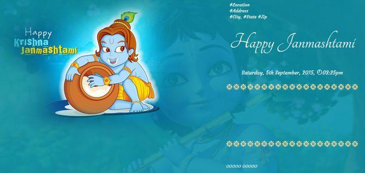 Happy #Krishna #Janmashtami Wishes & Greeting Message Card & Ecard Image #India