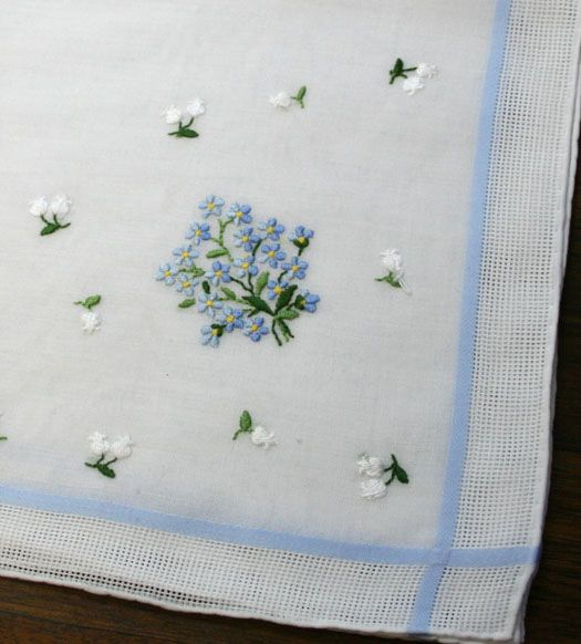 1920s Vintage ART DECO Pair of Embroidered Hankies Handkerchiefs Perfect  Bridesmaids Hanky Gifts. $12.00,