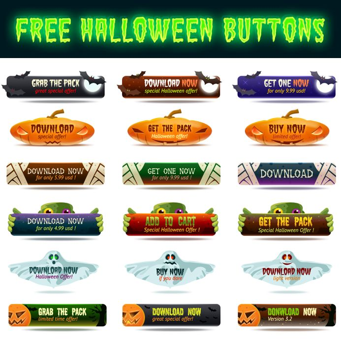 free Halloween Buttons
