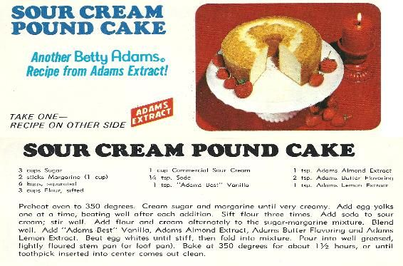 Pin By Betty Venegas On My Recipes From Cookbooks In 2020 Pound Cake Sour Cream Pound Cake Sour
