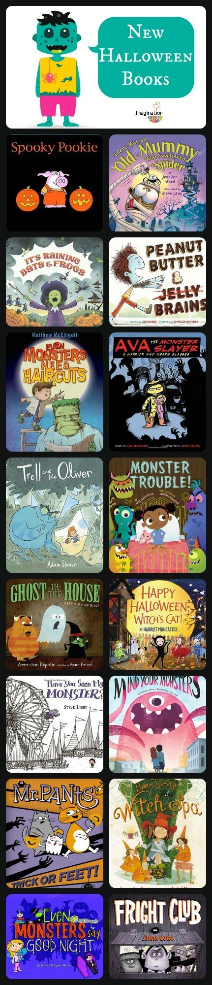 so many new monster and Halloween children's books! (Preschool Halloween Printables)