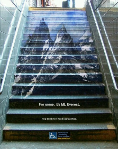 For some of us, it's like Mt. Everest... So next time someone goes slow on stairs just think of that.