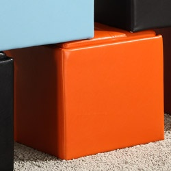 @Overstock - If you're looking to add some excitement - and more storage space - to your living room, you can't go wrong with this orange cube storage ottoman. Made of durable and vibrant orange vinyl, this ottoman is eye-catching and great for storing remotes.http://www.overstock.com/Home-Garden/Swayne-Orange-Cube-Ottoman/5947446/product.html?CID=214117 $88.99