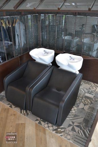 ... salon de coiffure, Stations de salon de coiffure and Mobilier italien