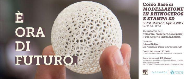 Rhinoceros e stampa 3D: dal 30 marzo al1 aprilea Pompei con Medaarch   Medaarch