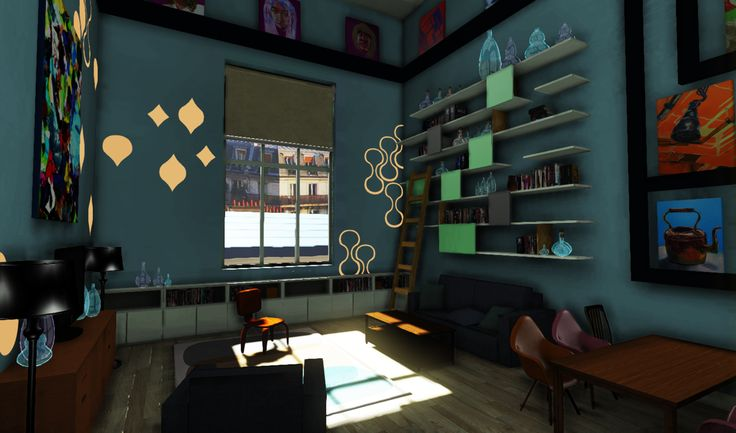 Loft,The final scene was rendered in UDK