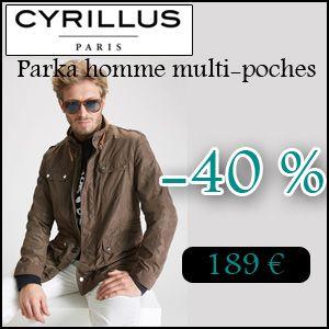 #missbonreduction; Réduction de 40 % sur le Parka homme multi-poches chez Cyrillus. http://www.miss-bon-reduction.fr//details-bon-reduction-Cyrillus-i228-c1830018.html