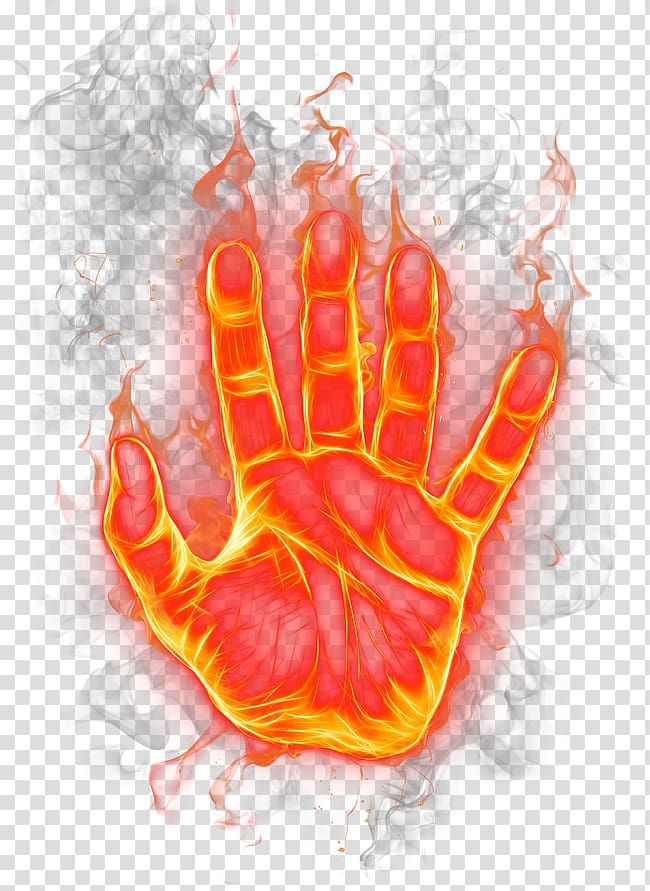 Human Flamed Hand Illustration Flame Fire The Palm Of The Fire Transparent Background Png Clipart Hand Illustration Color Splash Effect Light Icon