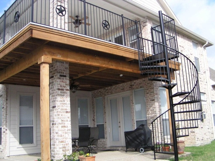 Best 20 two story deck ideas on pinterest two story for 2 story spiral staircase