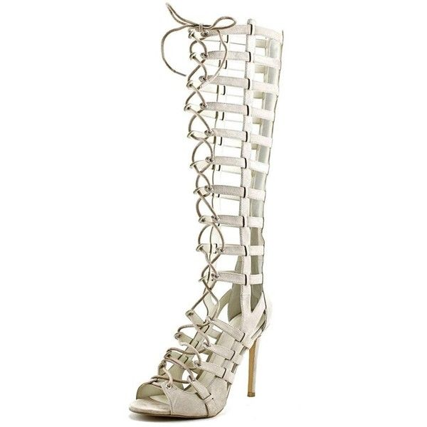 Kendall + Kylie Kendall + Kylie Emily Open Toe Canvas Gladiator Sandal (€43) ❤ liked on Polyvore featuring shoes, sandals, khaki, grip shoes, khaki shoes, open toe gladiator sandals, traction shoes and high heel sandals