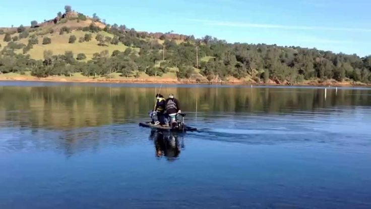 Feather raft tulloch lake copperopolis ca youtube for Lake tulloch fishing