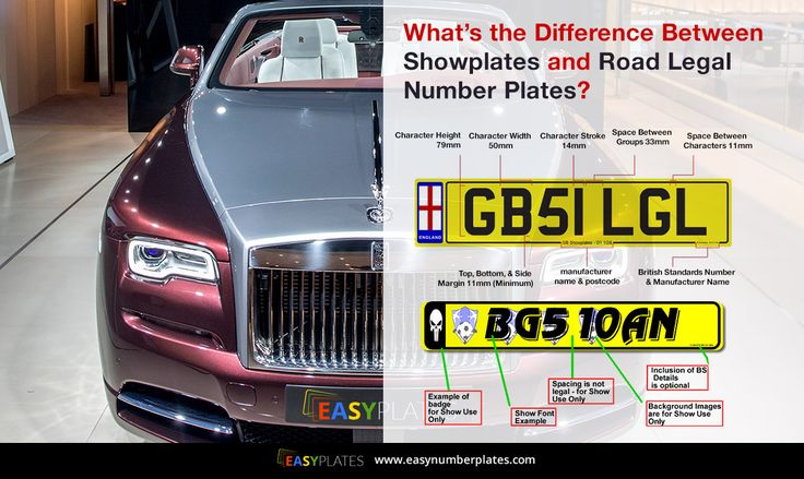 Browse #Easy #Number #Plates, to know the difference between 3Showplates and #Road #Legal #Number #Plates!
