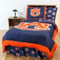 Auburn Tigers Bedding in official team colors of navy blue and orange for the Auburn University student, alumni or Auburn Tigers sports team fan available in king, queen, full, twin, and twin xl sizes.