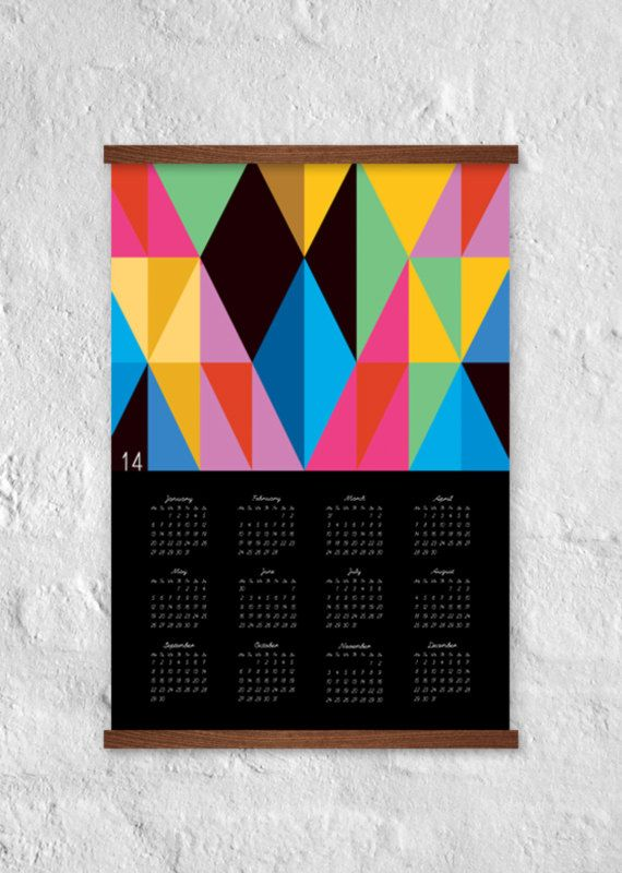 Brighten up the last few weeks of winter with a vibrant wall calendar.