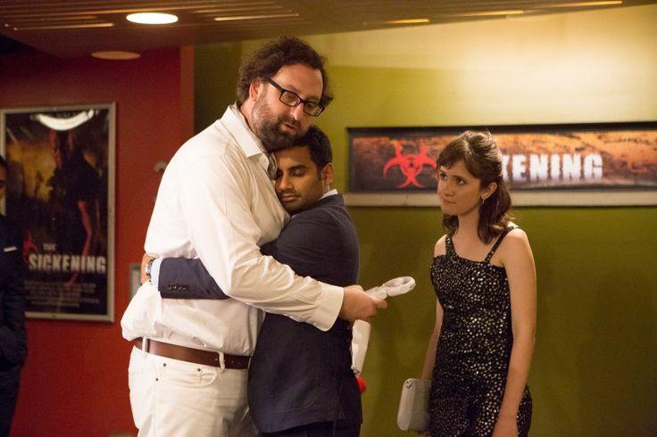 "Eric Wareheim, Aziz Ansari, Noël Wells in the Netflix original series ""Master of None""."