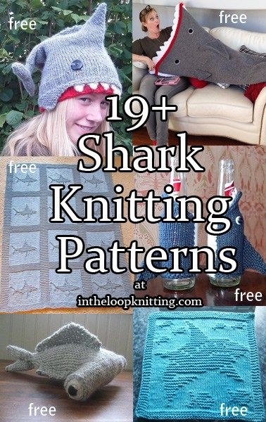 Celebrate Shark Week and the new Sharknado movie with knitting patterns for Shark toys, accessories, and more. Most patterns are free