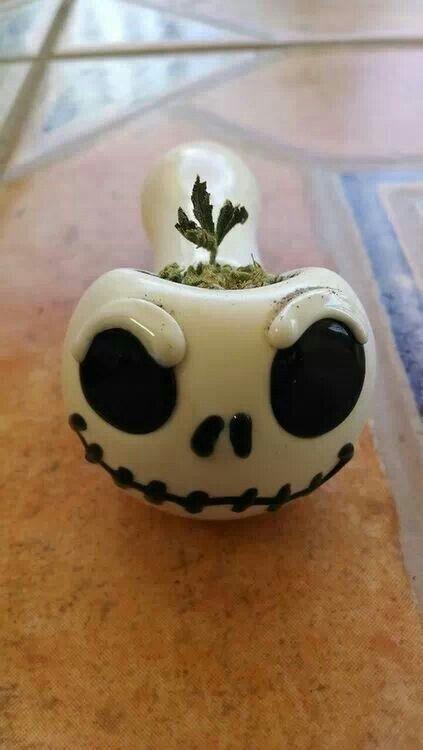Jack Skellington, Marijuana, Bowl, Ganja, Stoner, 420