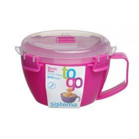 Sistema Noodle Bowl to Go 31.79 oz/940 ml by Sistema - Pink Noodle To Go http://www.amazon.co.uk/dp/B01B6SEAW8/ref=cm_sw_r_pi_dp_tnLWwb1W9Q73R