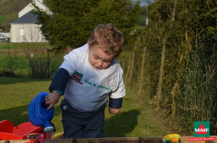 Tout le monde s'est mis au jardinage pour le Moment Maif, même les plus jeunes !
