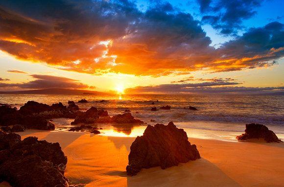 Hawaii island beach ocean beach travel vacation