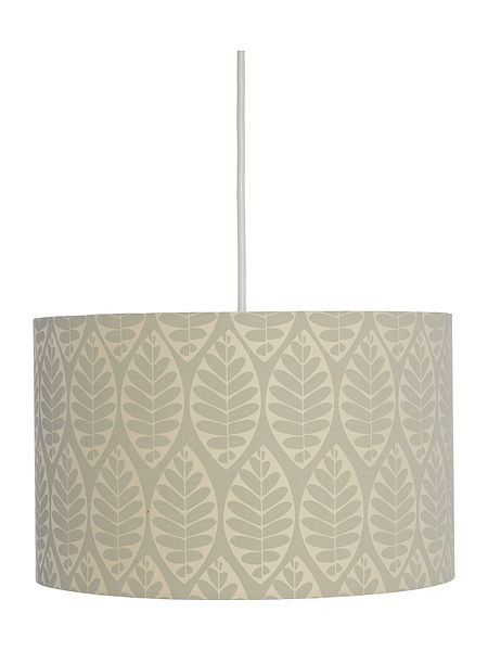 TESSA D&J GREY LEAF PRINTED SHADE