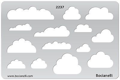 Metal Clay Jewellery Jewelry Design Drawing Drafting Template Stencil - Clouds | eBay £13.60