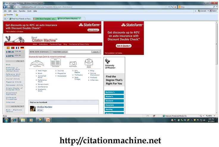 Son of Citation machine allows you to create both Citations and References by filling in appropriate boxes.    http://citationmachine.net/index2.php?reqstyleid=2=2=2