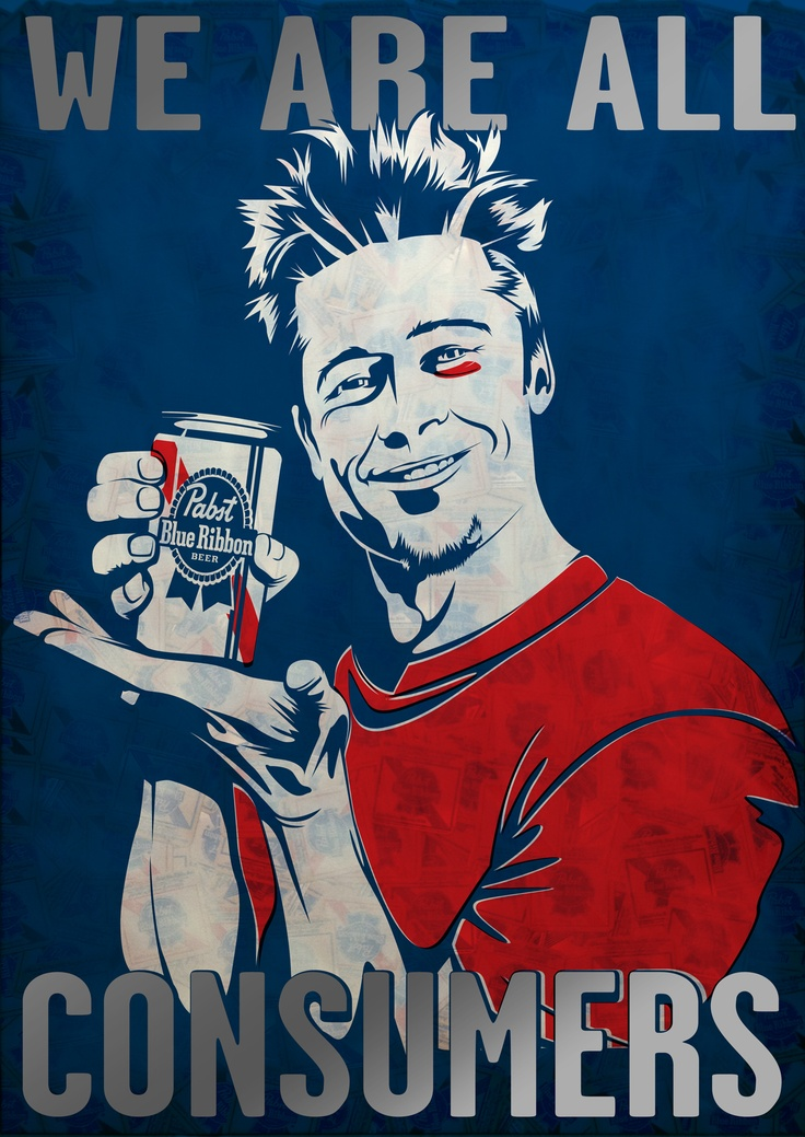 Fight Club inspired piece submitted to PBR art. #bradpitt #art #pbrart