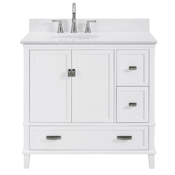 Ka 36 Single Bathroom Vanity Set White Vanity Bathroom Single Bathroom Vanity Vanity