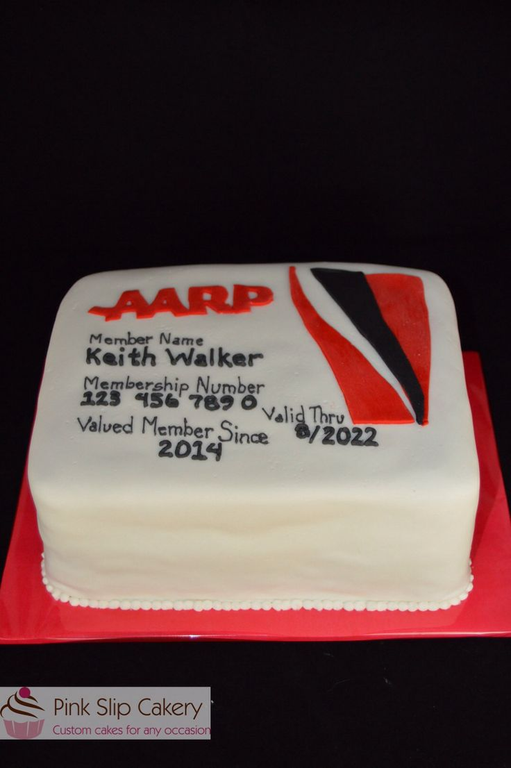 aarp membership card cake pink slip cakery pinterest cards  cakes