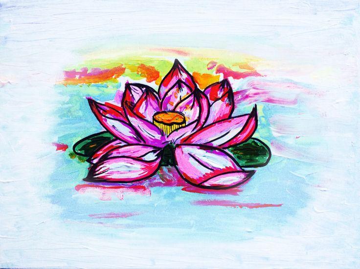 Flor de Loto (acrilico sobre tela)