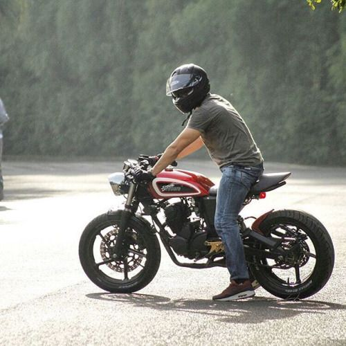 overboldmotorco:  Debut build from Bali-based @treasuregarage. Honda GL200 cafe…