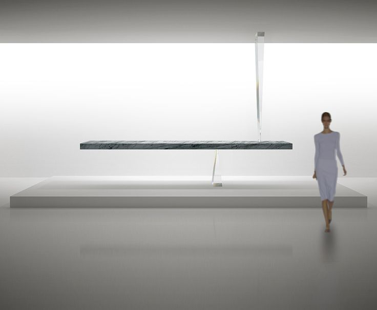 stone table of the universe by tokujin yoshioka frees itself from gravity