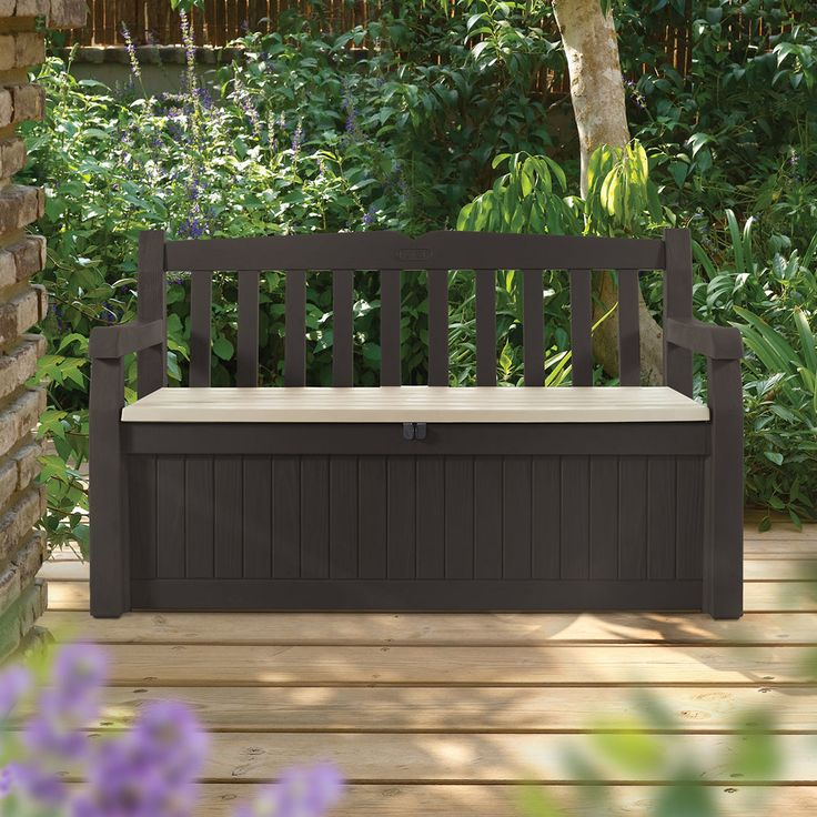 Outdoor Resin Storage Bench Part - 48: All Weather Outdoor 70 Gallon Resin Storage Bench