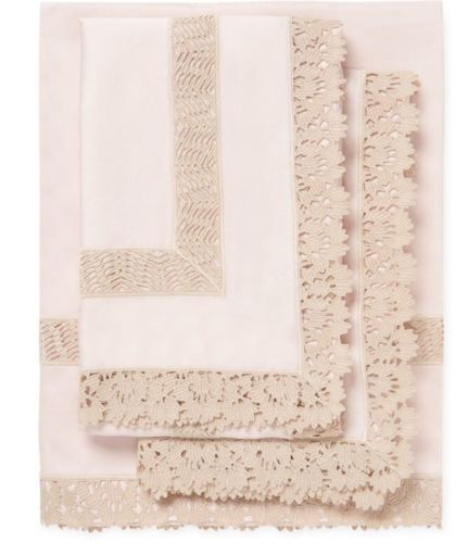 Frette-Sempione-Pizzo-Sheet-Set-Oxford-Pink-Beige
