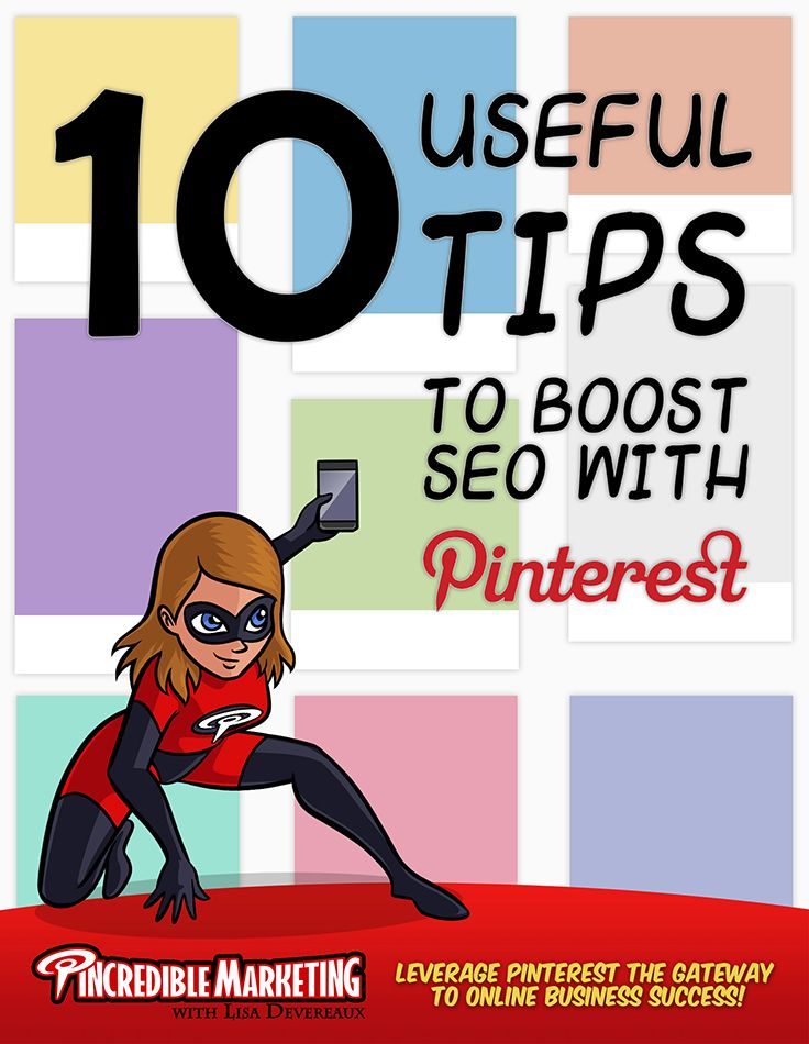 Pinterest SEO.Ten Useful Tips to Boost SEO with Pinterest.A few SEO-friendly strategies and using the most common keywords in your image captions, is all that Pinterest requires to help your website rank better in the search engine results and direct traffic to your business website. Become a master at using Pinterest to drive more traffic, leads and sales to any business that you want to! www.pincrediblemarketing.com