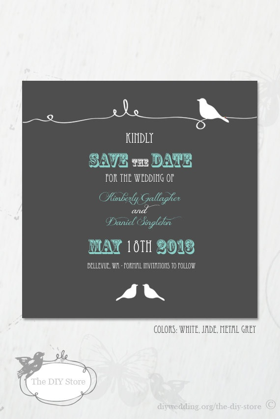sample wording for save the date wedding cards%0A Save The Date Wedding Invitation STD SaveTheDate by TheDIYStore