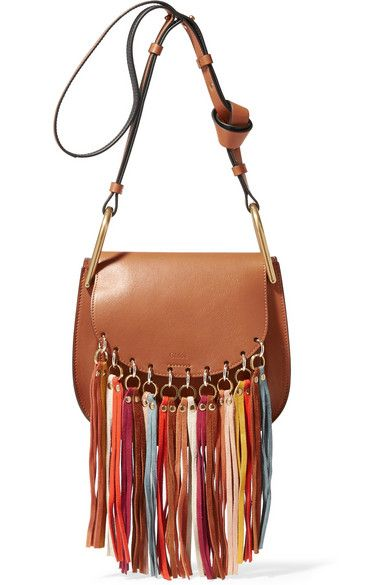 Chlo¨¦ | Hudson tasseled leather shoulder bag | NET-A-PORTER.COM ...