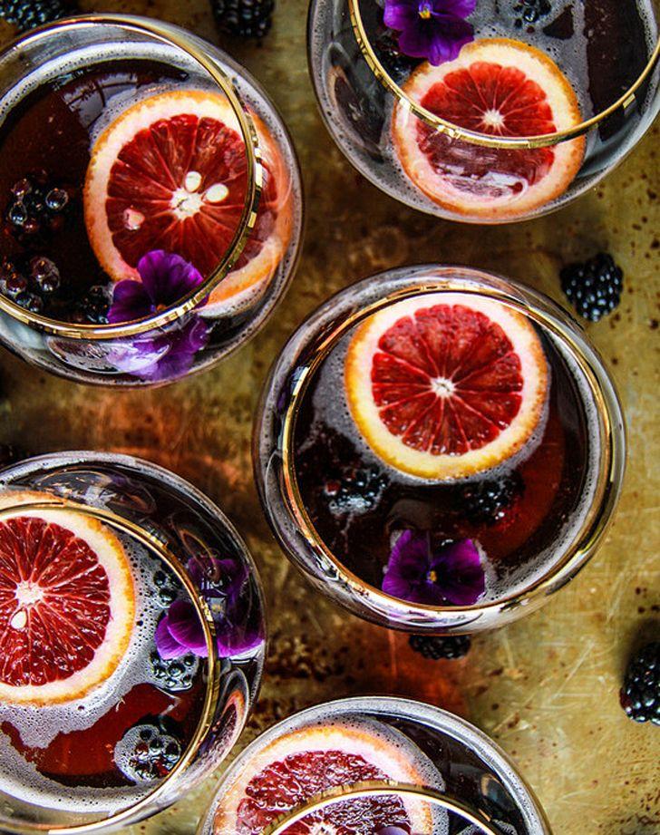 blood orange blackberry cocktail