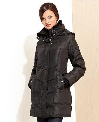 MICHAEL Michael Kors Coat, Faux-Fur-Collar Hooded Puffer