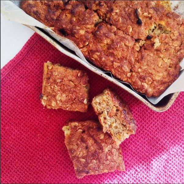 Sweet potato oat bars