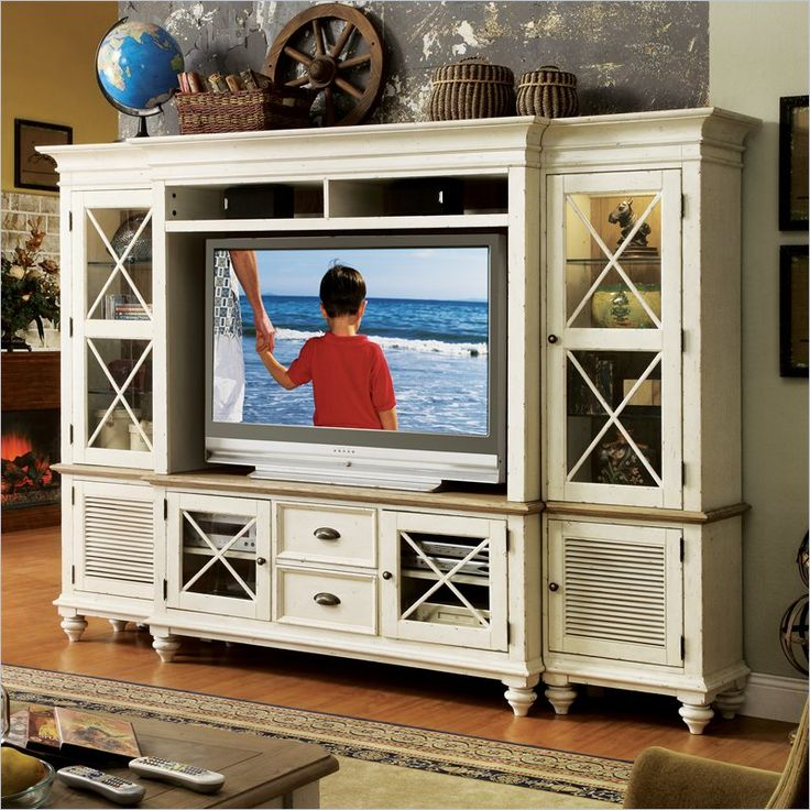 High Quality Riverside Furniture Coventry Entertainment Center In Dover White