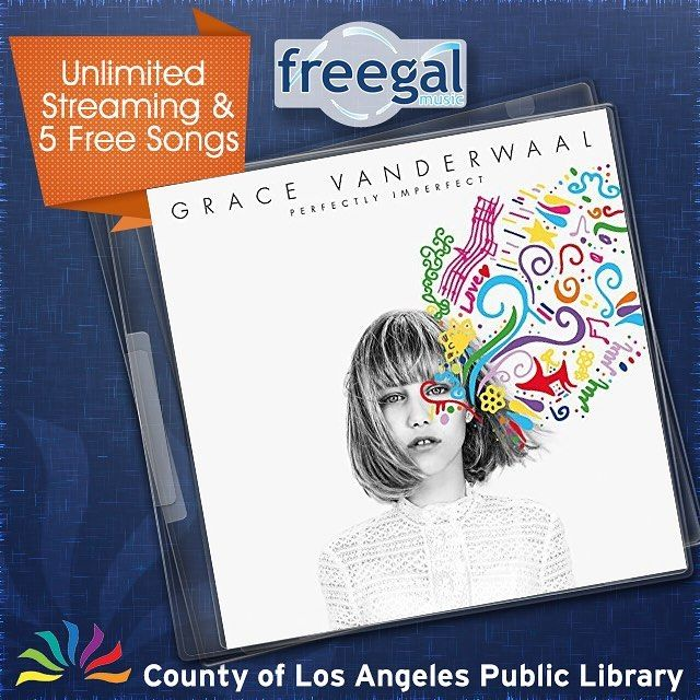 Grace VanderWaal wrote sang and strummed her way to the 2016 Americas Got Talent title at age 12! You probably saw her viral video on YouTube. Called the next Taylor Swift by AGT judge Simon Cowell her new EP Perfectly Imperfect is out on Freegal and you can stream it free with your library card! Also since you get 5 free DRM-free song downloads per week you can download the whole EP of five songs! #library #lacountylibrary