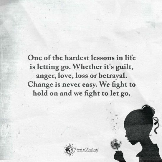 """let go to hold on People who hold on to these past hurts often relive the pain over and over in their minds sometimes a person can even get """"stuck"""" in this pain, in this hurt, in this blame  let go of the ."""
