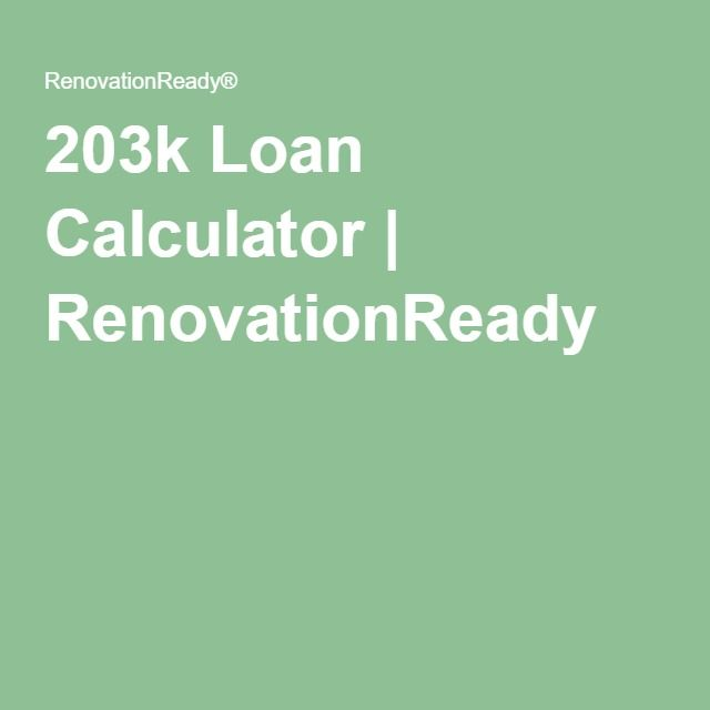 203k Loan Calculator | RenovationReady ®