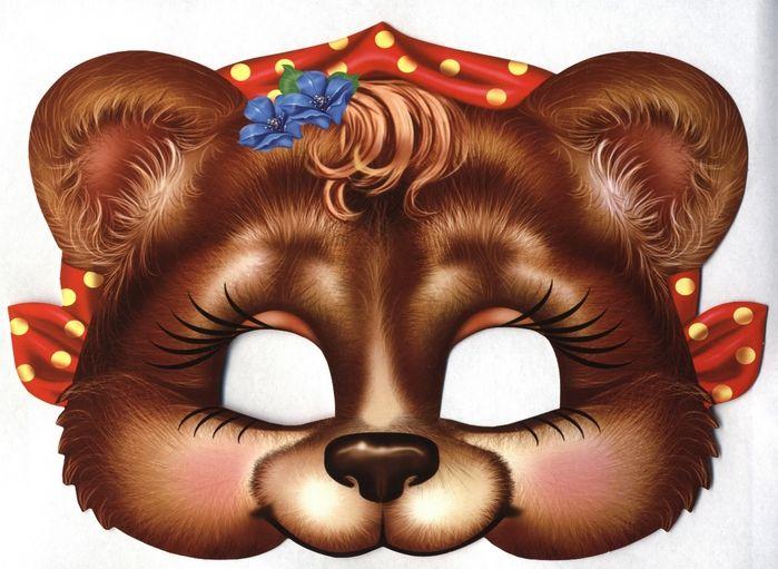 картинка маски медведя большая гардеробе лешего никогда