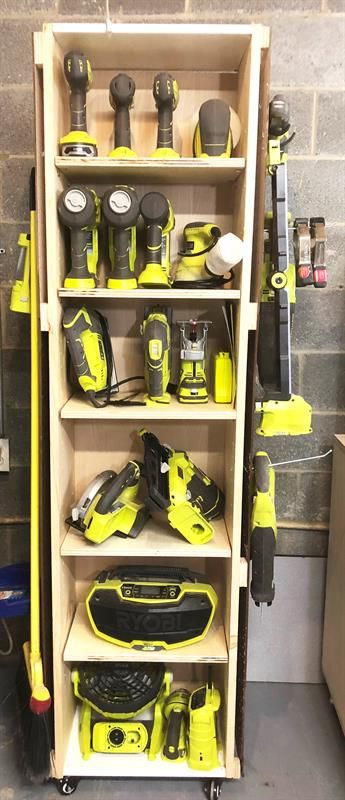 Diy Power Tool Storage Unit On Wheels Garage Tool