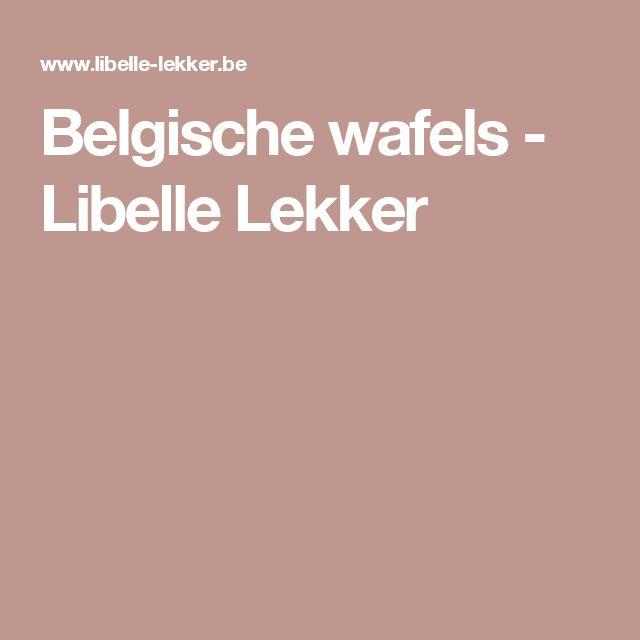 Belgische wafels - Libelle Lekker