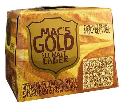 Mac's Gold, 330 ml Bottles - 12 Packs | Shop New Zealand