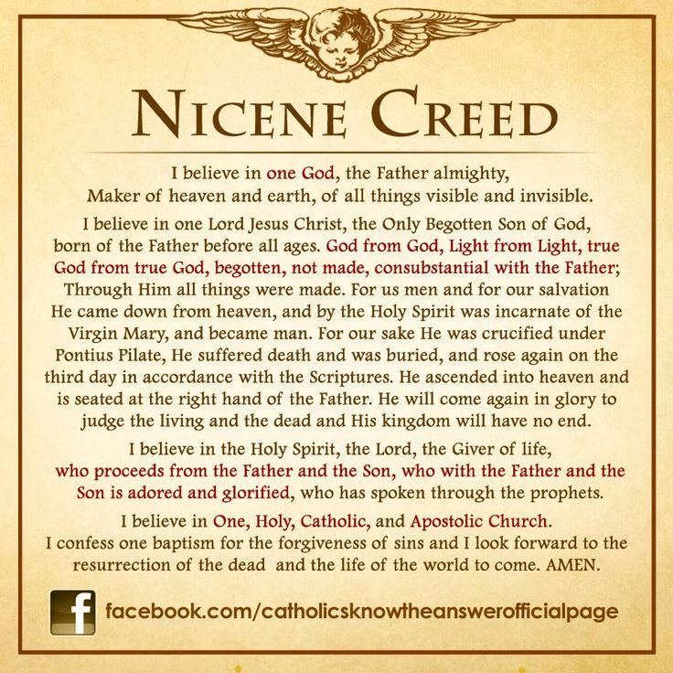 My Catholic Faith The Nicene Creed